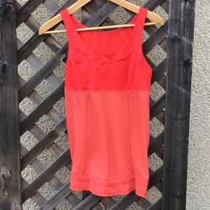 Lululemon orange/red tank with cinch on hem